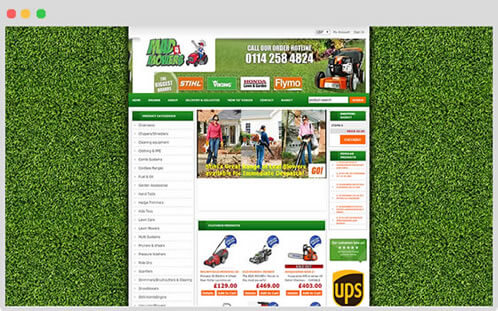 Example of Freewebstore design